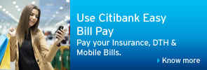 payment bill with citibank netbanking