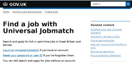 Job centre direct gov.co.uk