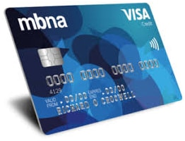 MBNA credit card log in