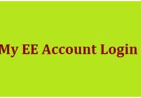 My EE Account Login
