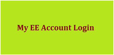 My EE Account Login