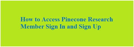 Pinecone research sign up