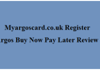 Log in to My Argos Card